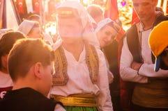 Βοσνιακοί λαϊκοί χορευτές στην εθνικές κυριαρχία και την ημέρα παιδιών ` s - Τουρκία Στοκ φωτογραφία με δικαίωμα ελεύθερης χρήσης
