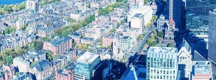ΒΟΣΤΩΝΗ - 12 ΣΕΠΤΕΜΒΡΊΟΥ 2015: Εναέρια άποψη πόλεων με τα κτήρια και Στοκ φωτογραφίες με δικαίωμα ελεύθερης χρήσης