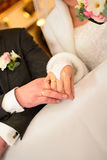 Βοτάνισμα του ζεύγους δαχτυλιδιών Στοκ Εικόνες