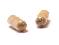 Βοτανικά χάπια συμπληρωμάτων Στοκ εικόνες με δικαίωμα ελεύθερης χρήσης