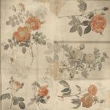 Βοτανική εκλεκτής ποιότητας shabby κομψή ανασκόπηση τριαντάφυλλων ελεύθερη απεικόνιση δικαιώματος