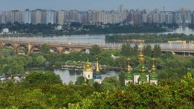 βοτανικός κήπος σε Kyiv απόθεμα βίντεο