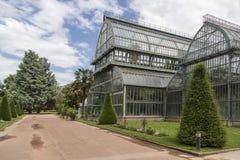 Βοτανικός κήπος στη Λυών Θερμοκήπιο στο πάρκο tete δ ` ή της Λυών, Γαλλία στοκ εικόνες