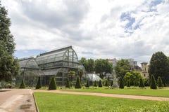 Βοτανικός κήπος στη Λυών Θερμοκήπιο στο πάρκο tete δ ` ή της Λυών, Γαλλία στοκ φωτογραφία