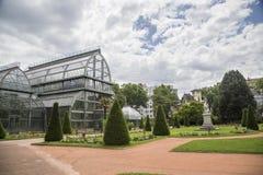 Βοτανικός κήπος στη Λυών Θερμοκήπιο στο πάρκο tete δ ` ή της Λυών, Γαλλία στοκ εικόνα
