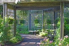 Βοτανικός κήπος Patio Στοκ εικόνα με δικαίωμα ελεύθερης χρήσης