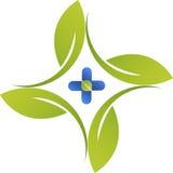 Βοτανικό λογότυπο θεραπείας Στοκ εικόνες με δικαίωμα ελεύθερης χρήσης