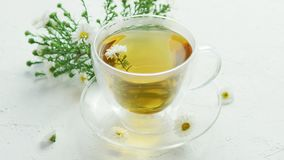 βοτανικό τσάι γυαλιού φλ&up απόθεμα βίντεο