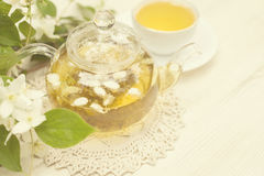 Βοτανικό τσάι με jasmine στοκ φωτογραφίες