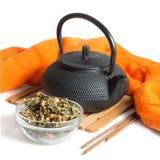 Βοτανικό τσάι που απομονώνεται στο άσπρο υπόβαθρο Στοκ Εικόνες