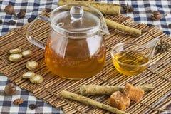 Βοτανικό τσάι Burdock Στοκ εικόνες με δικαίωμα ελεύθερης χρήσης