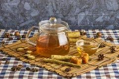 Βοτανικό τσάι Burdock Στοκ φωτογραφίες με δικαίωμα ελεύθερης χρήσης