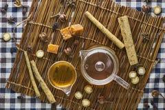 Βοτανικό τσάι Burdock Στοκ Εικόνα