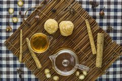 Βοτανικό τσάι Burdock Στοκ φωτογραφία με δικαίωμα ελεύθερης χρήσης