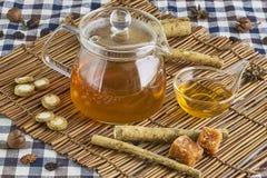 Βοτανικό τσάι Burdock Στοκ εικόνα με δικαίωμα ελεύθερης χρήσης