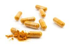 Βοτανικό φάρμακο μια εναλλακτική ιατρική στην κάψα Στοκ Φωτογραφίες