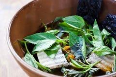 Βοτανικό noodle, χορτοφάγος ταϊλανδική noodle σούπα Στοκ Φωτογραφίες