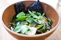 Βοτανικό noodle, χορτοφάγος ταϊλανδική noodle σούπα Στοκ εικόνα με δικαίωμα ελεύθερης χρήσης