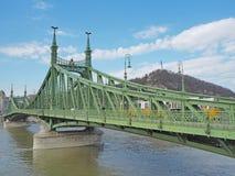 Βουδαπέστη, Ουγγαρία Η γέφυρα ελευθερίας ή γέφυρα ελευθερίας στοκ εικόνα με δικαίωμα ελεύθερης χρήσης