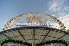 Βουδαπέστη, Ουγγαρία - το Δεκέμβριο του 2017: Tou ροδών ferris ματιών της Βουδαπέστης στοκ εικόνες