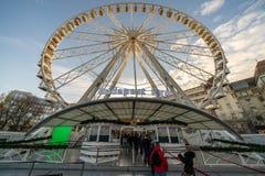 Βουδαπέστη, Ουγγαρία - το Δεκέμβριο του 2017: Tou ροδών ferris ματιών της Βουδαπέστης στοκ φωτογραφίες