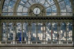 Βουδαπέστη, Ουγγαρία - & x22 Keleti& x22  κτήριο σιδηροδρομικών σταθμών Στοκ Φωτογραφία