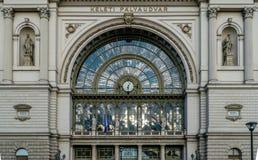 Βουδαπέστη, Ουγγαρία - & x22 Keleti& x22  κτήριο σιδηροδρομικών σταθμών Στοκ εικόνα με δικαίωμα ελεύθερης χρήσης