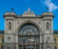 Βουδαπέστη, Ουγγαρία - & x22 Keleti& x22  κτήριο σιδηροδρομικών σταθμών Στοκ Εικόνα