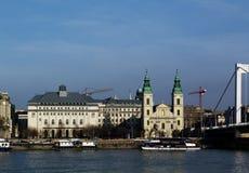 Βουδαπέστη, πλευρά παρασίτων κατά μήκος του Δούναβη Στοκ φωτογραφία με δικαίωμα ελεύθερης χρήσης