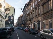 Βουδαπέστη που βλέπει άνωθεν μια νεφελώδη ημέρα, Ουγγαρία Στοκ φωτογραφία με δικαίωμα ελεύθερης χρήσης