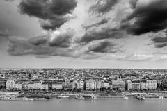 Βουδαπέστη που βλέπει άνωθεν μια νεφελώδη ημέρα, Ουγγαρία Στοκ εικόνες με δικαίωμα ελεύθερης χρήσης