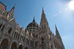 Βουδαπέστη που χτίζει το ουγγρικό Κοινοβούλιο Στοκ Φωτογραφία