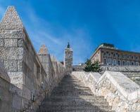 Βουδαπέστη, σκαλοπάτια που οδηγούν στο Buda Castle, Ουγγαρία Στοκ φωτογραφία με δικαίωμα ελεύθερης χρήσης