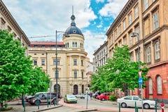 ΒΟΥΔΑΠΕΣΤΗ, 02.2016 ΟΥΓΓΑΡΊΑ-ΜΑΪΟΥ: Όμορφη αστική άποψη τοπίων, πόλη Στοκ Εικόνες