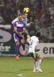 Rosi TC Ferencvà ¡ (FTC) εναντίον του ποδοσφαιρικού παιχνιδιού Ãjpest FC (UTE) Στοκ Φωτογραφία