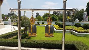 Βουδιστικά κουδούνια Ταϊλάνδη, κουδούνια ναών ναών του Βούδα, στοκ φωτογραφίες