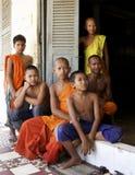 βουδιστικές νεολαίες μοναχών Στοκ Φωτογραφία