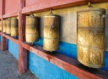 βουδιστικές ρόδες προσ&e Στοκ εικόνες με δικαίωμα ελεύθερης χρήσης