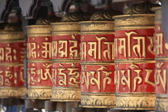 βουδιστικές ρόδες προσ&e Στοκ Εικόνες