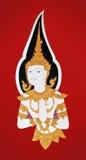 βουδιστικές τοιχογρα&phi ελεύθερη απεικόνιση δικαιώματος