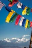 βουδιστική προσευχή σημαιών Στοκ Φωτογραφίες