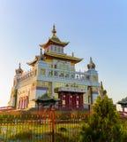Βουδιστική χρυσή διανομή ναών του Βούδα Shakyamuni σε Elista, Δημοκρατία της Καλμουκίας, Ρωσία Στοκ Εικόνες