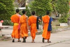 βουδιστικοί μοναχοί Στοκ εικόνα με δικαίωμα ελεύθερης χρήσης