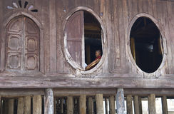 βουδιστικός μοναχός Myanmar τη Στοκ Εικόνες