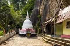 Βουδιστικός ναός βράχου Mulkirigala στη Σρι Λάνκα Στοκ φωτογραφία με δικαίωμα ελεύθερης χρήσης