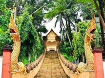 Βουδιστικός ναός που ονομάζεται Wat Doi Ngam Muang Στοκ εικόνα με δικαίωμα ελεύθερης χρήσης