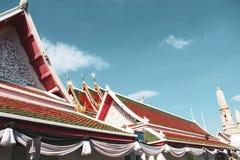 Βουδιστικός ναός στη Μπανγκόκ, Ταϊλάνδη στοκ εικόνα με δικαίωμα ελεύθερης χρήσης
