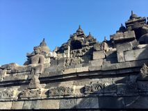 Βουδιστικός ναός Borobudur Κοντά σε Yogyakarta στο νησί της Ιάβας, Ινδονησία στοκ φωτογραφία με δικαίωμα ελεύθερης χρήσης