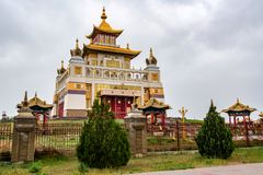 Βουδιστικός σύνθετος Bakshin Altan Sume Burkhan στοκ εικόνα