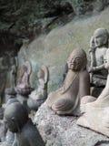 Βουδιστικό άγαλμα με την εύθυμη έκφραση Στοκ φωτογραφίες με δικαίωμα ελεύθερης χρήσης
